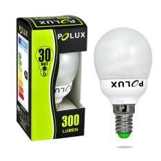 Świetlówka energooszczędna POLUX 1:1 Kulka mini FST2 G45 7W E14 2700K SE4783