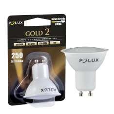 Reflektor LED POLUX GOLD2 GU10 220-240V SMDWW 3,5W 250lm PBT+CV