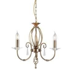Aegean 3Lt Chandelier Aged Brass  AG3 AGED BRASS  Elstead lampa wisząca stylowa świecznikowa (AG3 AGED BRASS )