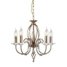 Aegean 5Lt Chandelier Aged Brass  AG5 AGED BRASS  Elstead lampa wisząca stylowa świecznikowa (AG5 AGED BRASS )