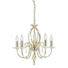 Aegean 5Lt Chandelier Polished Brass AG5 POL BRASS  Elstead lampa wisząca stylowa świecznikowa (AG5 POL BRASS )