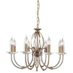 Aegean 8Lt Chandelier Aged Brass  AG8 AGED BRASS  Elstead lampa wisząca stylowa świecznikowa (AG8 AGED BRASS )
