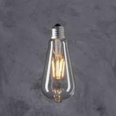 Maximums Design Żarówka dekoracyjna Edison ST 64 LED 4W - Transparent Lampa Lampa