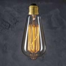 Maximums Design Żarówka dekoracyjna Edison ST 64 40W Lampa Lampa