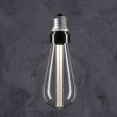 Maximums Design Żarówka dekoracyjna Edison ST 64 LED Glow Stick - White / Transparent Lampa Lampa