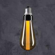 Maximums Design Żarówka dekoracyjna Edison ST 64 LED Glow Stick - Warm / Smoky Lampa Lampa