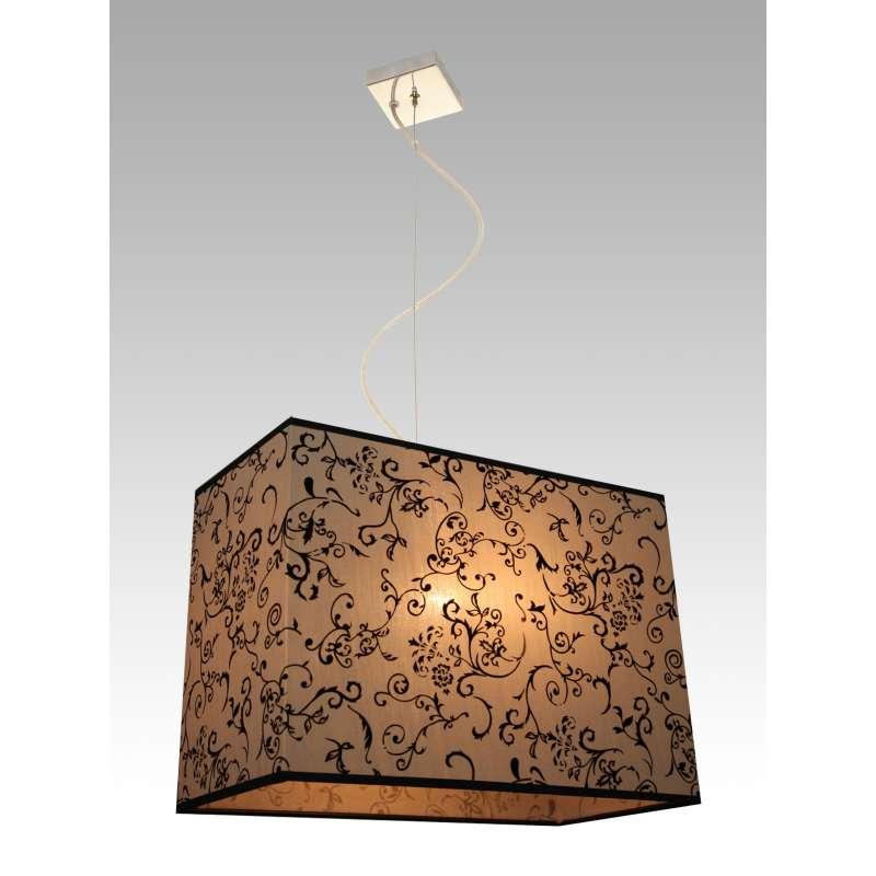 Ottawa 2 0881 Modern Lighting Lampa Wisząca Hotelowa Abażur Beżowy Z Czarnym Wzorem Maximusdesign