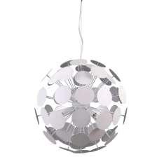 Lampy wiszące Mailone AD20180/6 WH+SILV Biały, srebrny satynowany