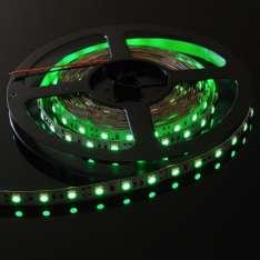 Taśma LED-5050 300 Zielona 10mm wod.