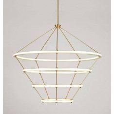 Roll & Hill Halo Chandelier 4 Rings lampa wisząca