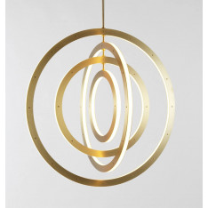 Roll & Hill Halo Chandelier Vertical, 4 Rings lampa wisząca