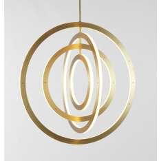 Roll & Hill Halo Chandelier Vertical, 4 Rings lampa wisząca