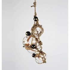 Roll & Hill Knotty Bubbles Chandelier 1 Lg, 2 Sm Bubbles, 5 Barnacles