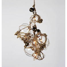 Roll & Hill Knotty Bubbles Chandelier 3 Lg, 2 Sm Bubbles, 5 Barnacles