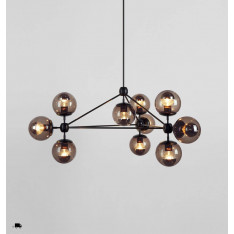 Roll & Hill Modo Chandelier 3 Sided, 10 Globes lampa wisząca