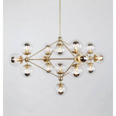 Roll & Hill Modo Chandelier 4 Sided, 15 Globes lampa wisząca
