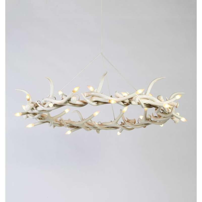 Roll & Hill Superordinate Antler Chandelier 27 Antler Ring lampa wisząca