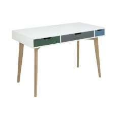 ACTONA biurko TESS białe - MDF, drewno jesion Maximus Design