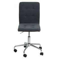 ACTONA fotel obrotowy FRIDA ciemny szary - tkanina, chrom Maximus Design