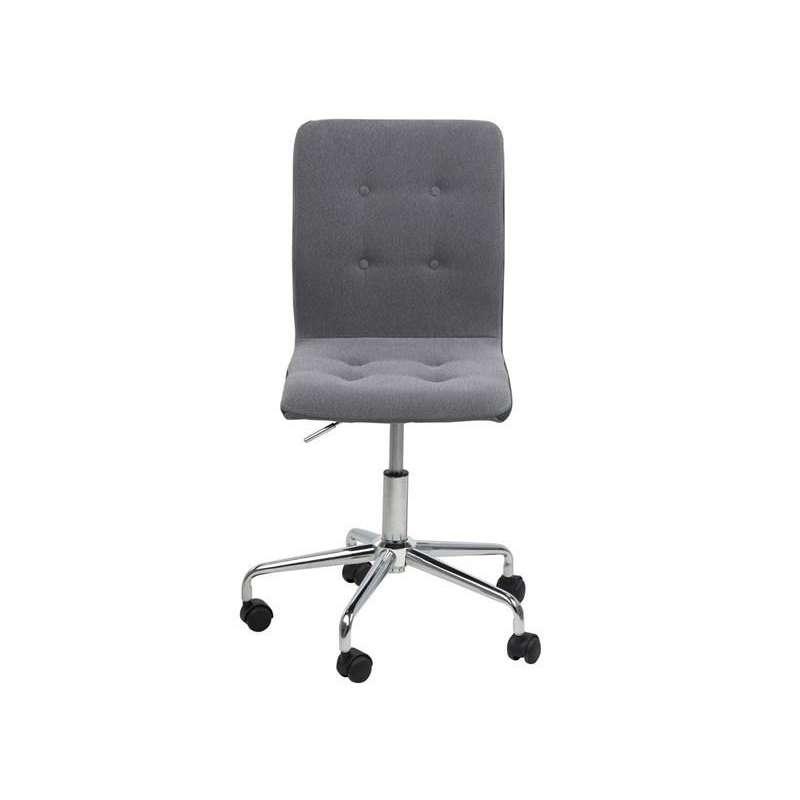 ACTONA fotel obrotowy FRIDA jasny szary - tkanina, chrom Maximus Design