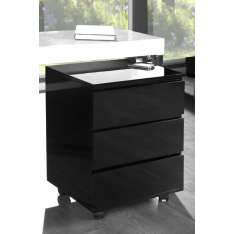 INVICTA Kontenerek pod biurko DEAL - czarny Maximus Design