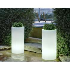 NEW GARDEN donica PALMA 70 C biała - LED Maximus Design