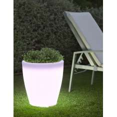 NEW GARDEN donica VIOLETA 40 C biała - LED Maximus Design