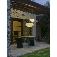 NEW GARDEN lampa wisząca PETRA 40 HANG biała Maximus Design