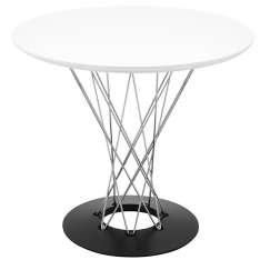 Stół TWIST 80 biały - MDF, chrom Maximus Design