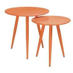 Zestaw stolików LEO pomarańczowe - MDF, metal Maximus Design