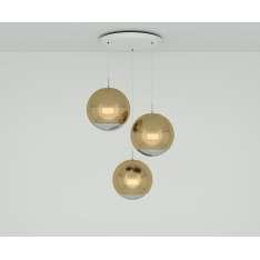Tom Dixon MIRROR BALL GOLD 40CM ROUND PENDANT SYSTEM MBPS01G-PEUM1 Lampa wisząca