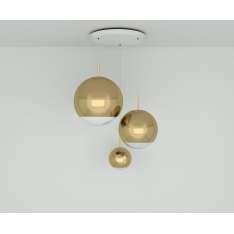 Tom Dixon MIRROR BALL GOLD RANGE ROUND PENDANT SYSTEM MBPS02G-PEUM1 Lampa wisząca