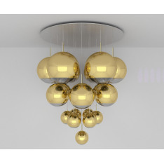 Tom Dixon MIRROR BALL GOLD MEGA PENDANT SYSTEM MBMS01G-PEUM1 Lampa wisząca