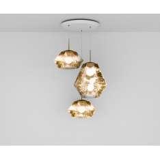 Tom Dixon CUT GOLD TRIO ROUND PENDANT SYSTEM CUS01GO-PEUM1 Lampa wisząca