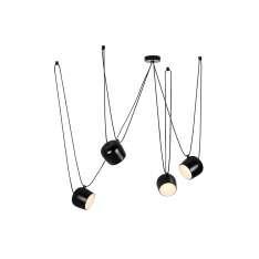 Lampa wisząca EYE 4 czarna - LED, aluminium Maximus Design