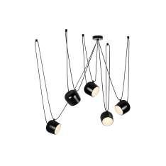 Lampa wisząca EYE 5 czarna - LED, aluminium Maximus Design