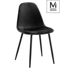 MODESTO krzesło LUCY czarne - welur, metal Maximus Design