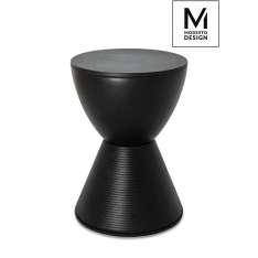 MODESTO stołek TAMBURO czarny - polipropylen Maximus Design