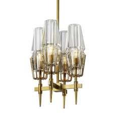 Glass & Brass - New Gothic 4 - żyrandol 30cm x 30cm
