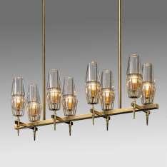 Glass & Brass - New Gothic 10 - żyrandol 110cm