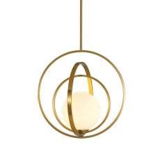 Orbit Triple - mleczna kula - nowoczesna lampa wisząca