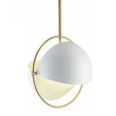 Visor glass - biała - lampa wisząca nowoczesna