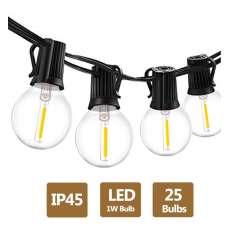 Girlanda ogrodowa 7,5m łańcuch LED + 25 żarówek LED 1W
