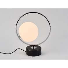 Minimalistyczna lampa stołowa Bella chrom z marmurową podstawą Nowość