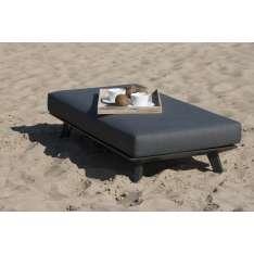 Stolik z poduszką podnóżek Bart 144x72x35cm