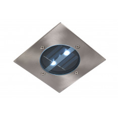 LUC SOLAR Square D12 2xLED Satin Chrome 14875/01/12 Lucide