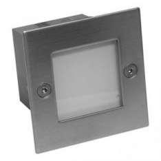 Mur-LED-Inox B - 04 SUMA IP54 9xLED BIAŁY CIEPŁY 0,6W, 230V STAL NIERDZEWNA