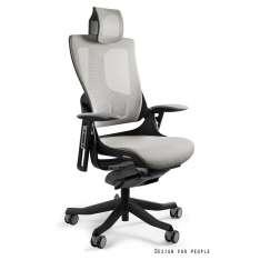 Wau 2 W-709B-NW42 Unique krzesło biurowe czarno-szare