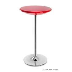 Round stolik czerwony 3-04-2 Unique