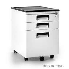Kontener 324-w Unique szafka biurowa biała